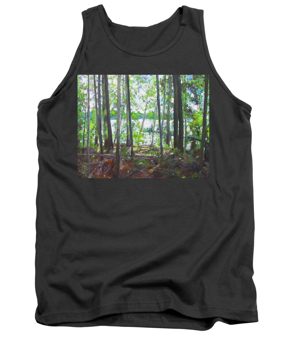 Algonquin Tank Top featuring the painting Kawawaymog 3 by Anne F Marshall