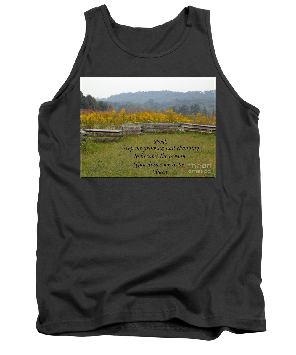 Fence Tank Top featuring the photograph Keep Me Growing by Sara Raber