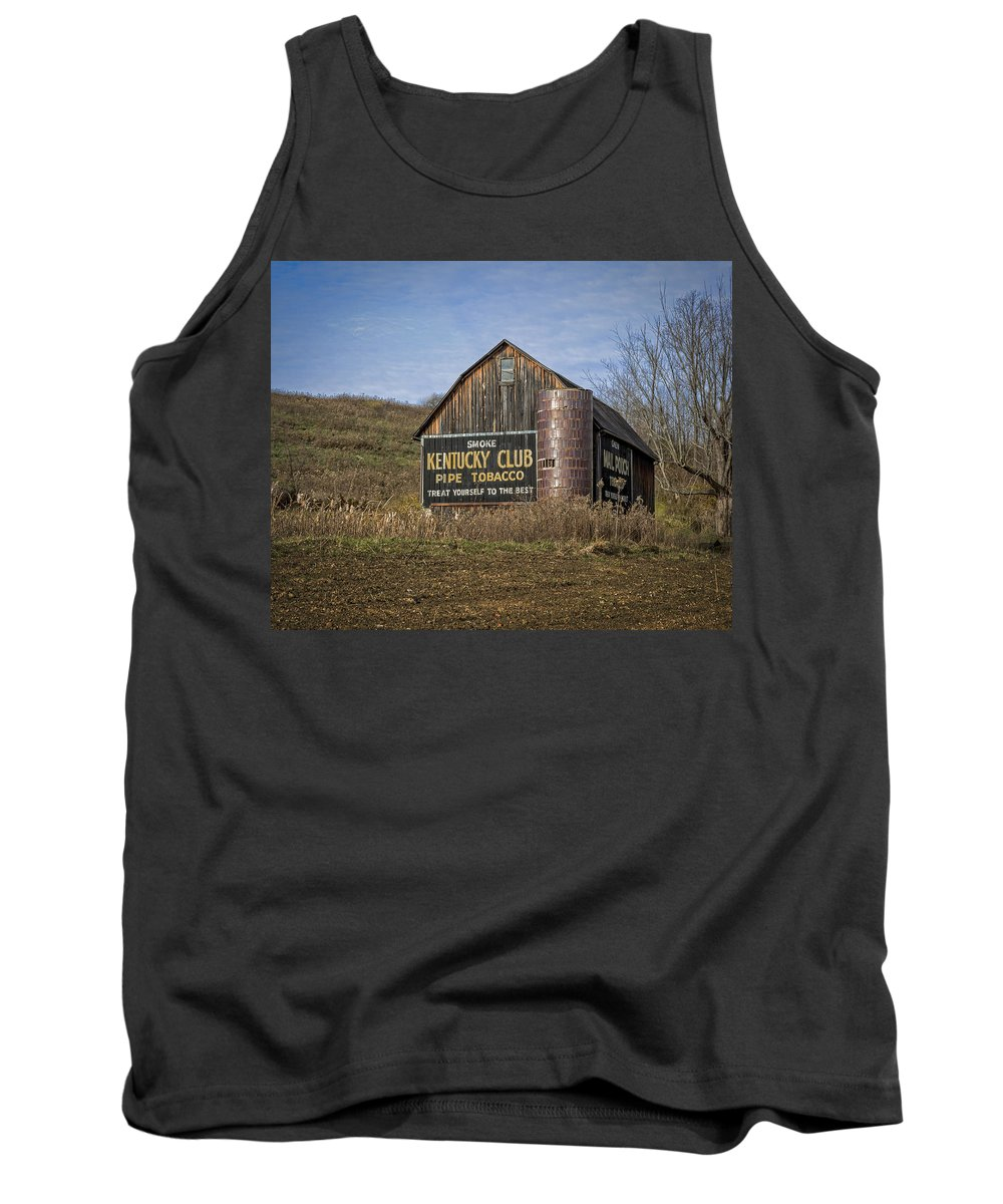 Aged Tank Top featuring the photograph Kentucky Club Barn by Jack R Perry