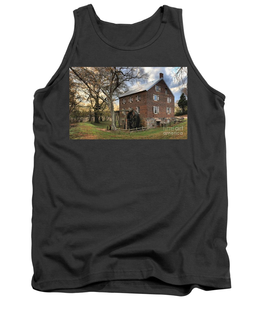 Kerr Mill Tank Top featuring the photograph Kerr Grist Mill At Sloan Park by Adam Jewell