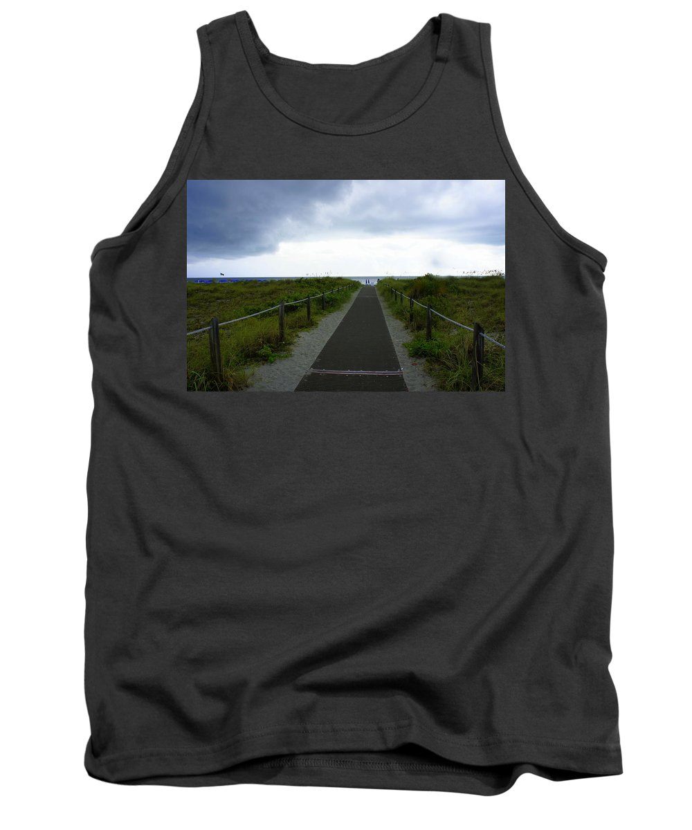 Key Biscayne Tank Top featuring the photograph Key Biscayne Storm by Laurie Perry