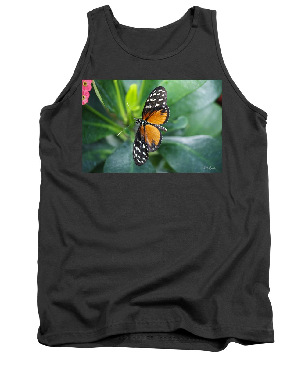 Florida Tank Top featuring the photograph Key West Butterfly Conservatory - Monarch Danaus Plexippus 1 by Ronald Reid