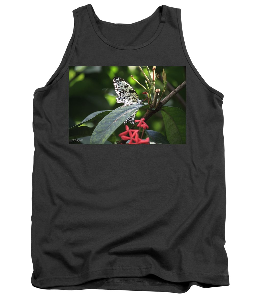 Florida Tank Top featuring the photograph Key West Butterfly Conservatory - Idea Leuconoe by Ronald Reid