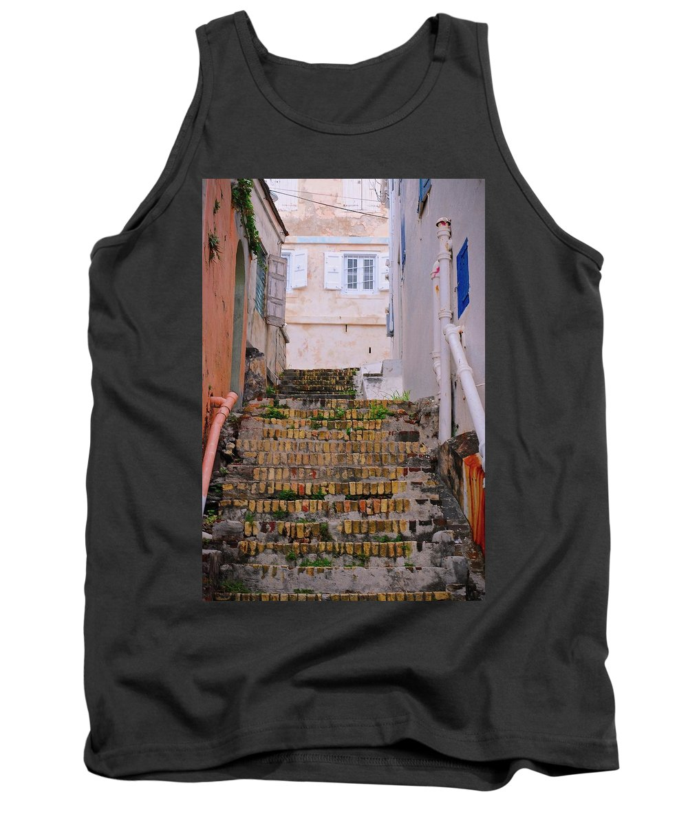 Steps Tank Top featuring the photograph Keyboard Alley by David Coleman
