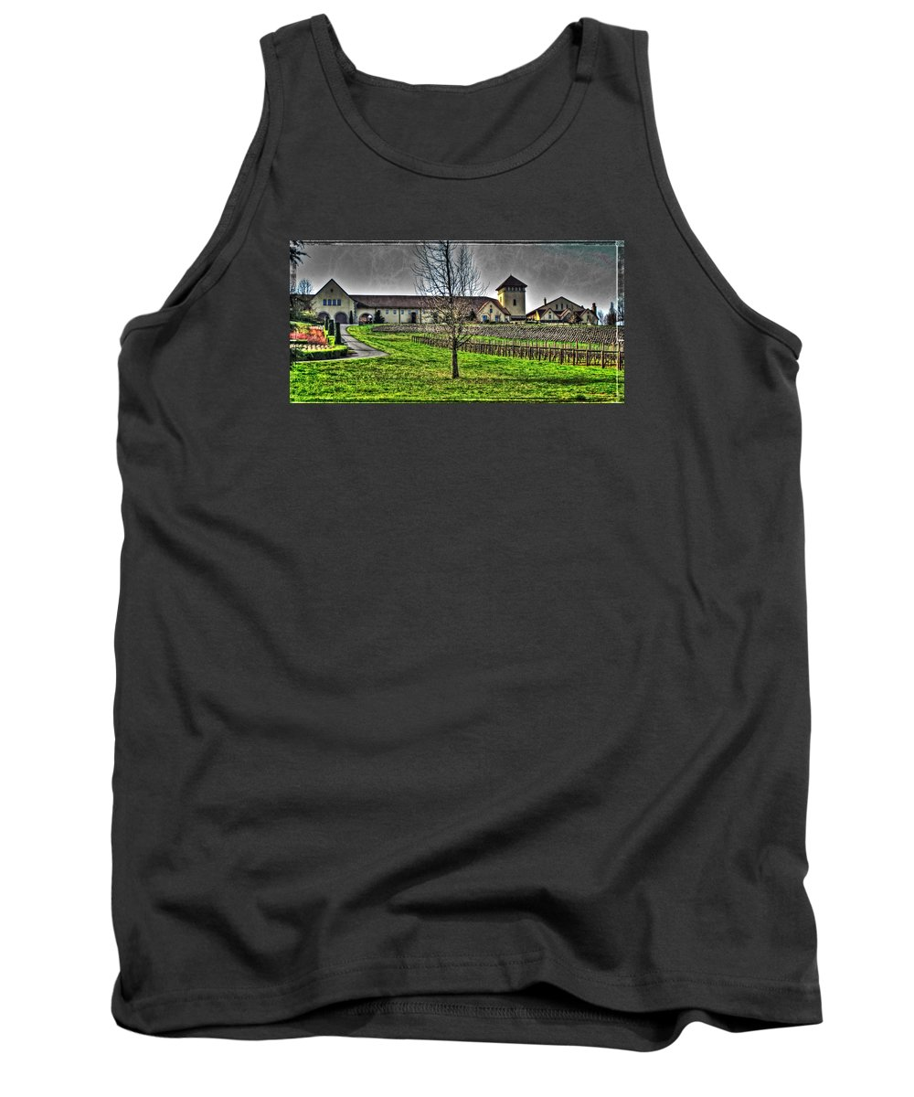 King Estate Winery Tank Top featuring the photograph King Estate Winery by Thom Zehrfeld