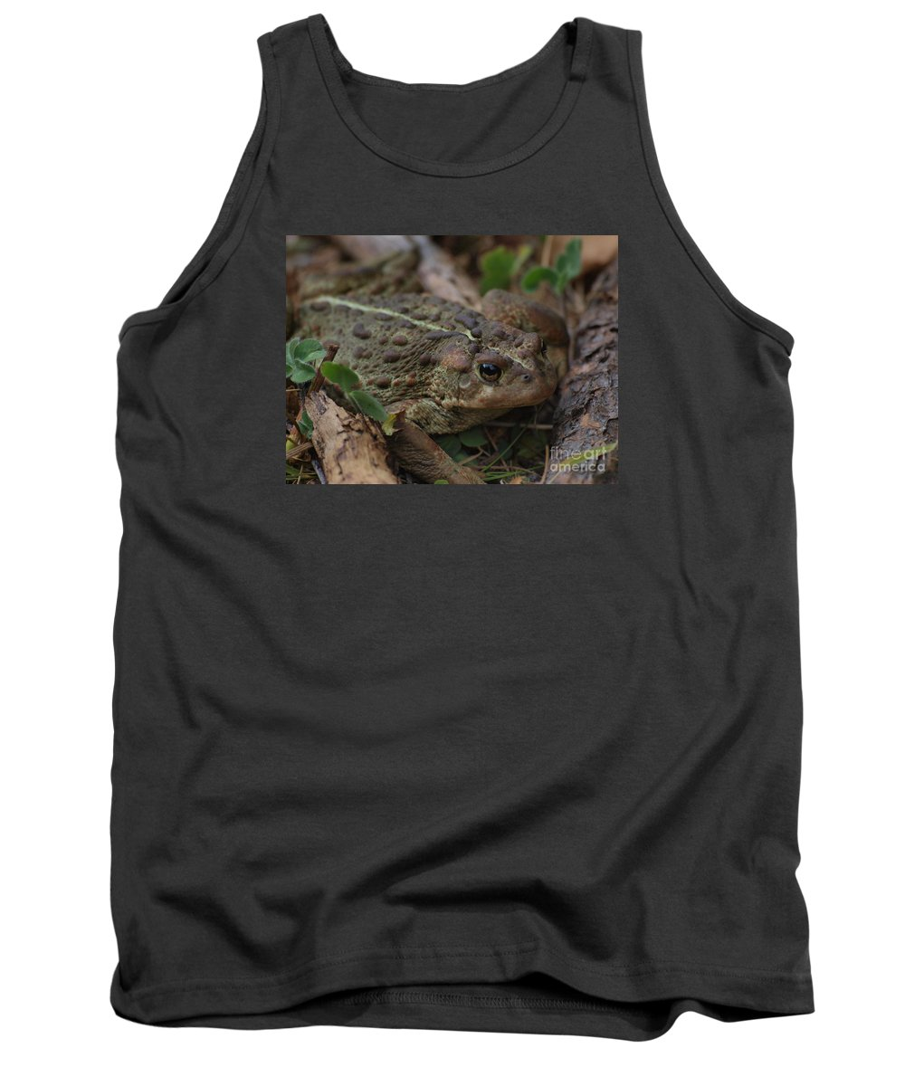 Frog Tank Top featuring the photograph Kiss Me by Vivian Martin