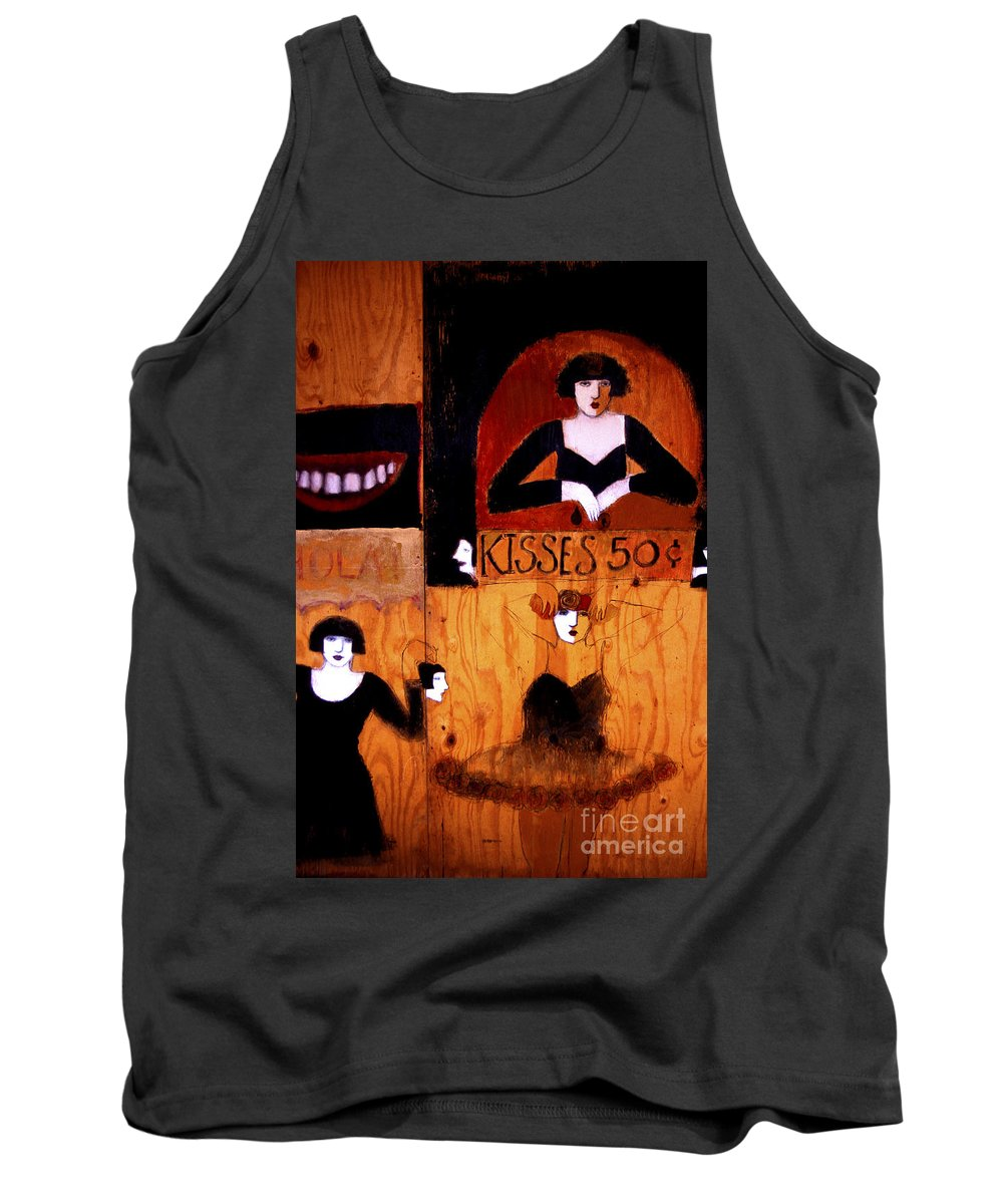 Graffiti Tank Top featuring the photograph Kisses - 50 Cents by Paul W Faust - Impressions of Light