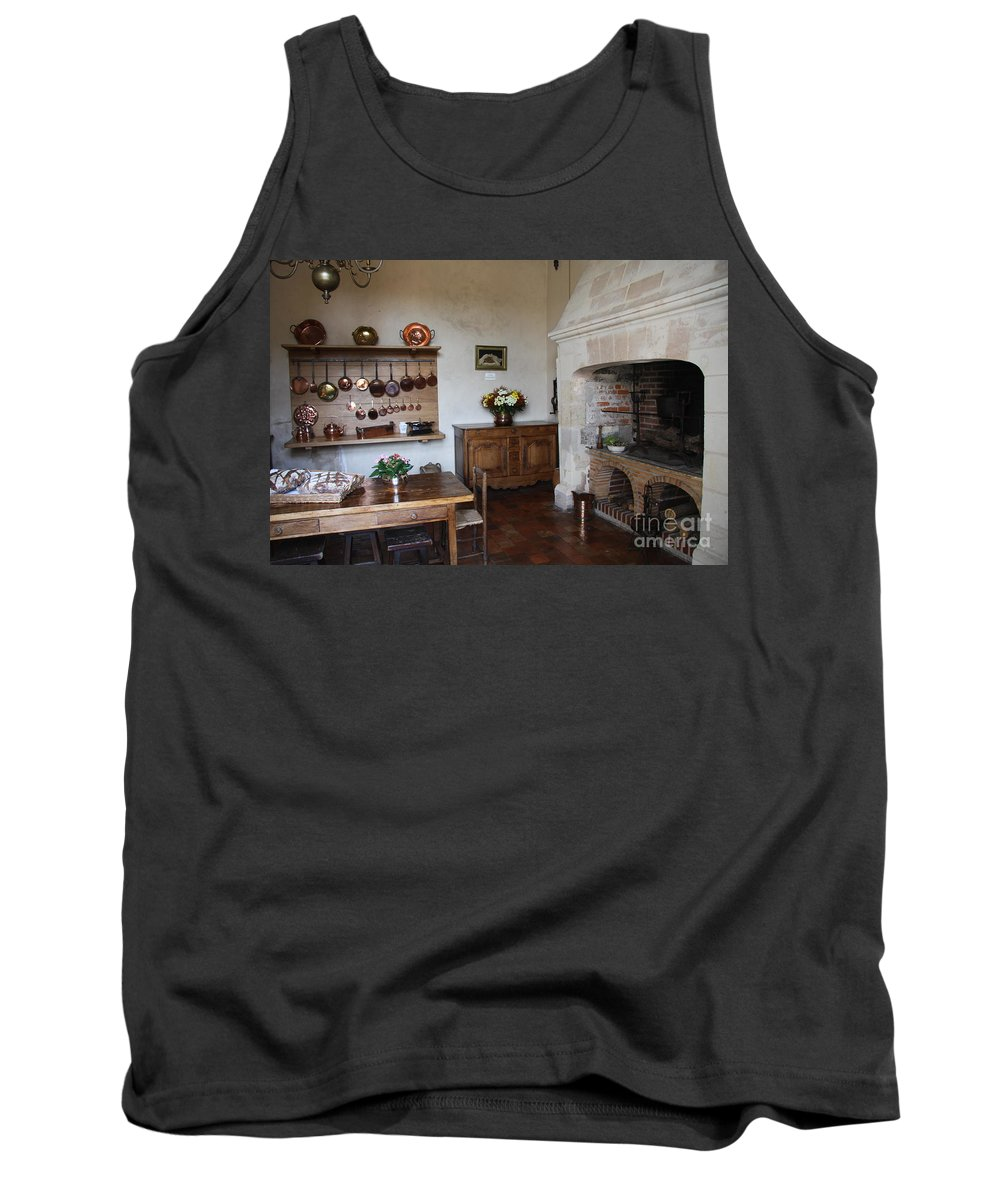 Kitchen Tank Top featuring the photograph Kitchen At Chateau Villandry by Christiane Schulze Art And Photography