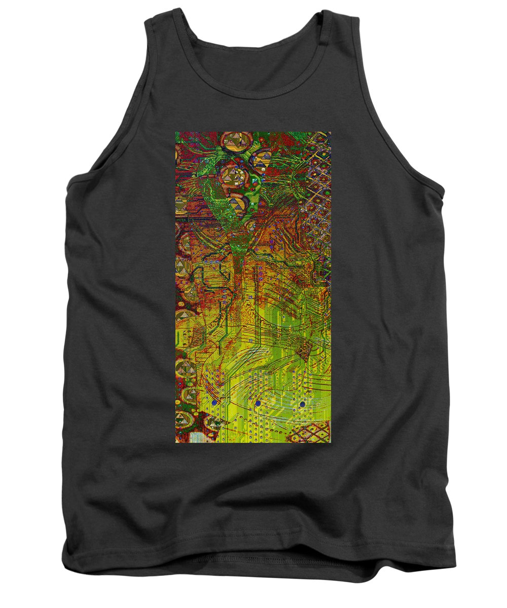 Digital Art Tank Top featuring the digital art Klimt Honor Whole by Mary Clanahan