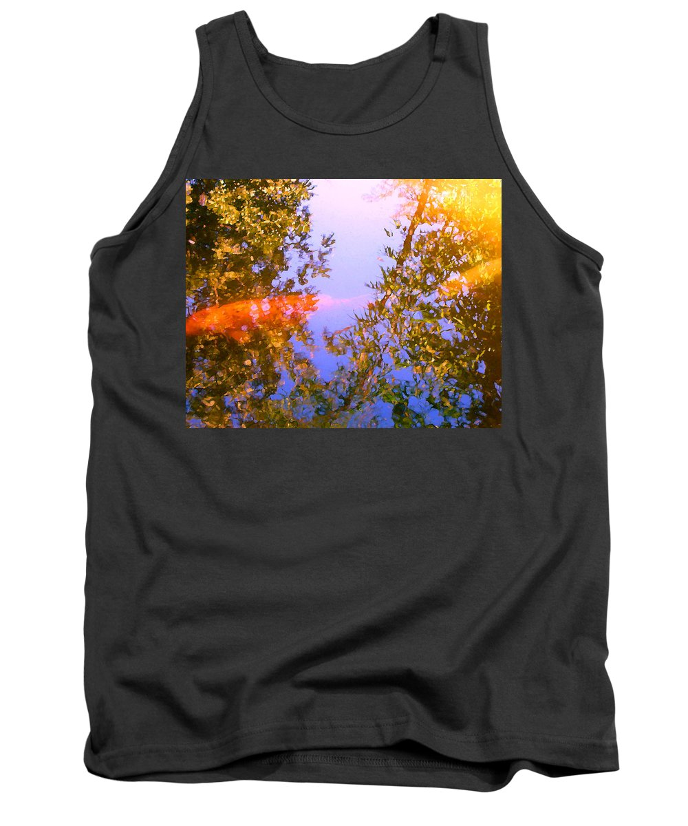 Animal Tank Top featuring the painting Koi Fish 4 by Amy Vangsgard