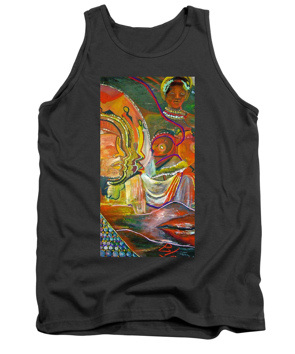 Impressionism Tank Top featuring the painting Koulikoro Woman by Peggy Blood