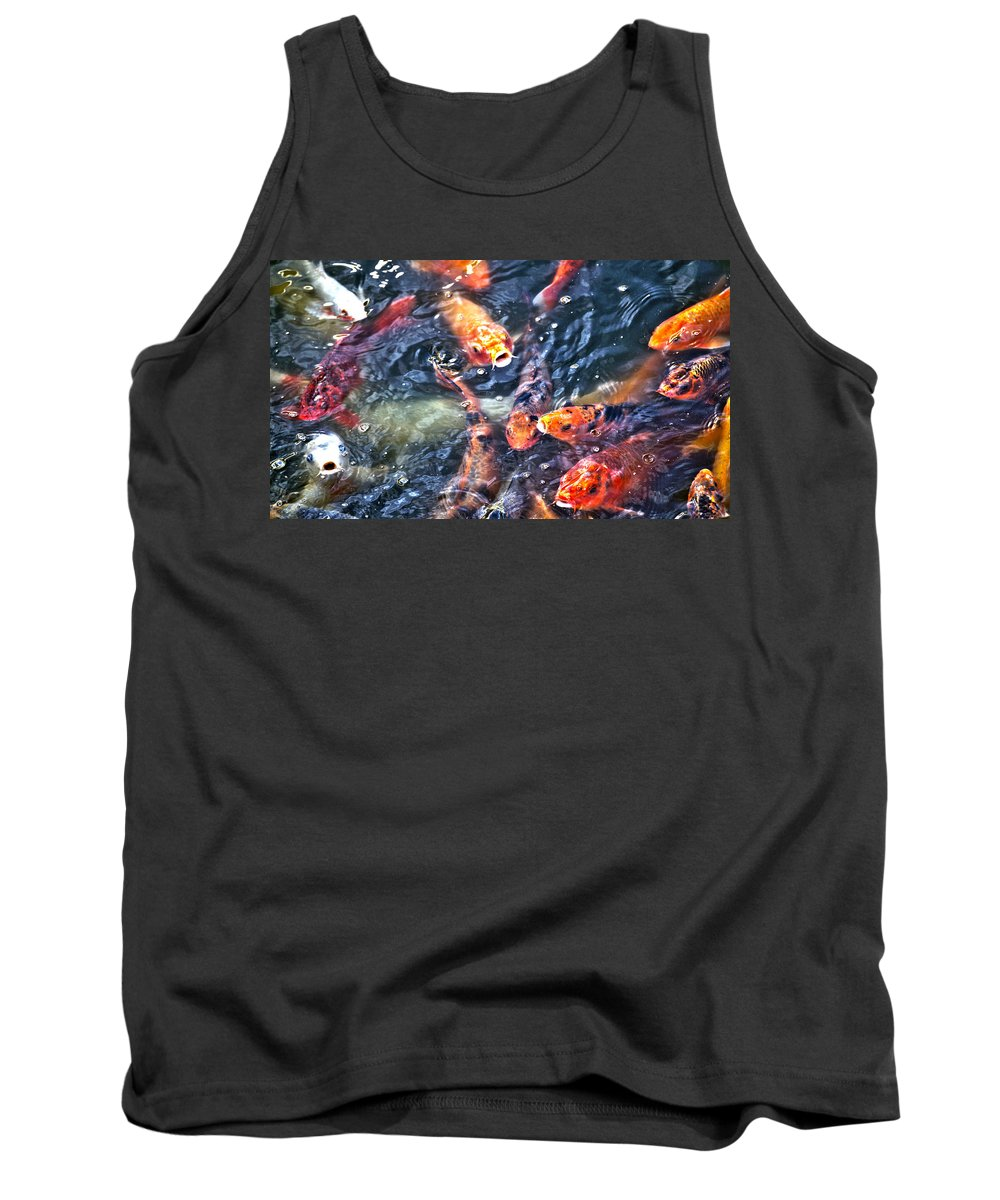 Koy Tank Top featuring the photograph Koy by Crystal Harman