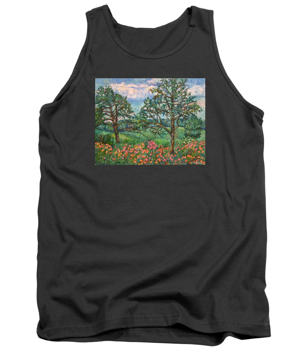 Landscape Tank Top featuring the painting Kraft Avenue In Blacksburg by Kendall Kessler