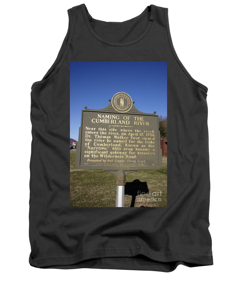 Travel Tank Top featuring the photograph Ky-2045 Naming Of The Cumberland River by Jason O Watson