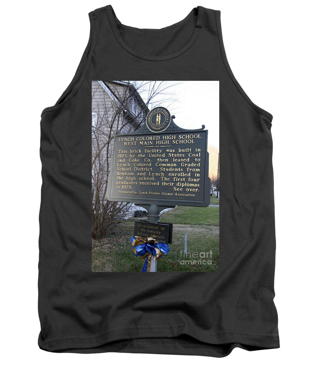 Travel Tank Top featuring the photograph Ky-2109 Lynch Colored High School West Main High School by Jason O Watson