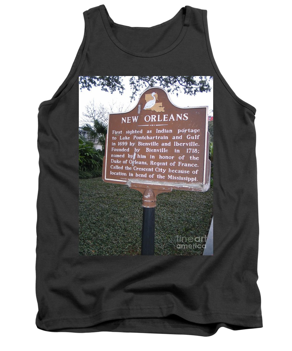 New Orleans Tank Top featuring the photograph La-002 New Orleans by Jason O Watson