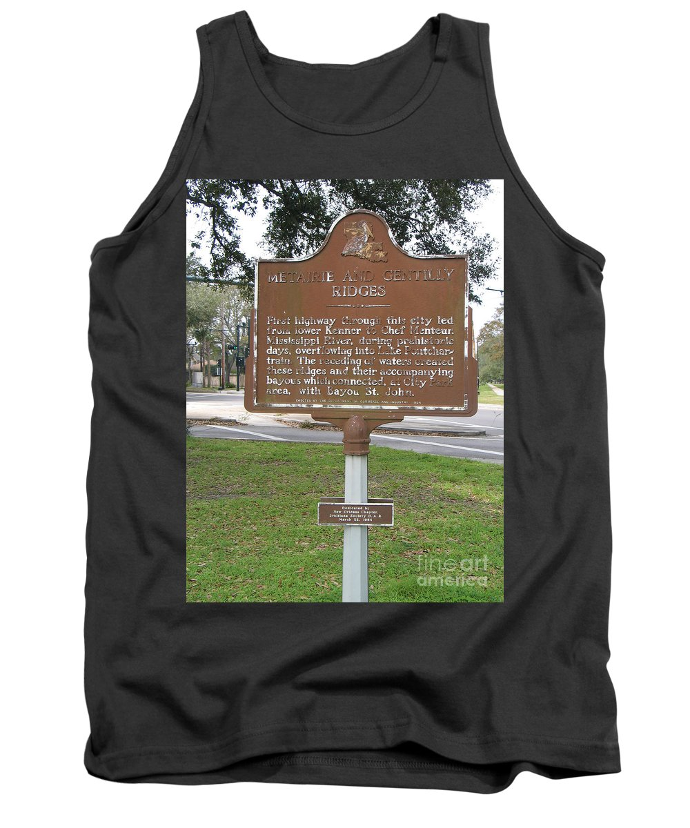Metairie Ridge Tank Top featuring the photograph La-009 Metairie And Gentilly Ridges by Jason O Watson