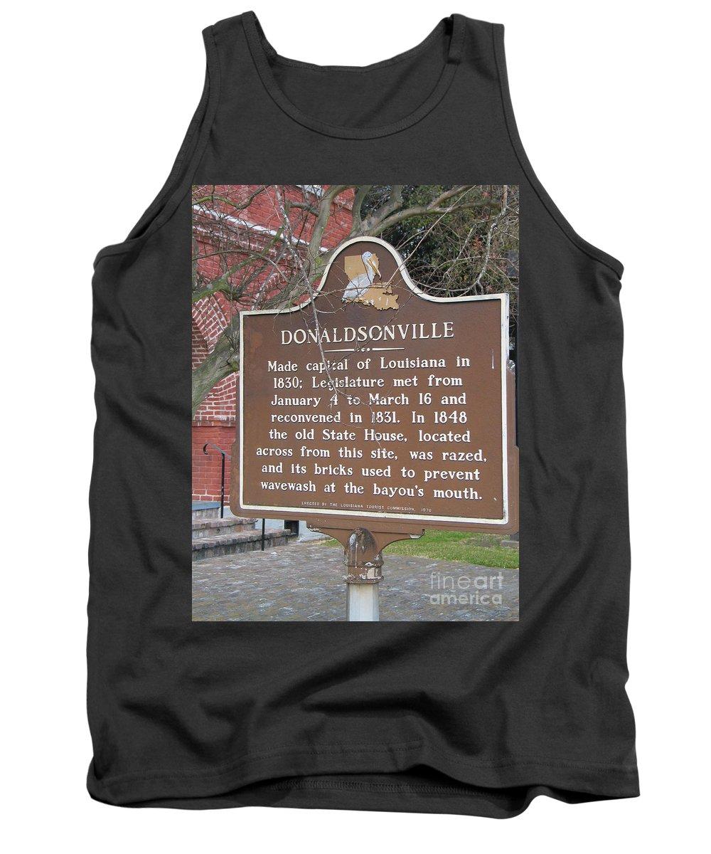 Donaldsonville Tank Top featuring the photograph La-032 Donaldsonville by Jason O Watson