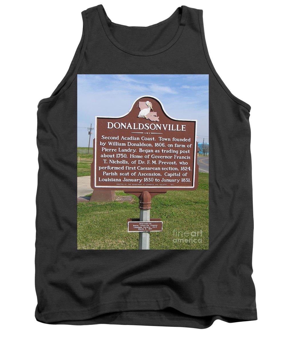 Donaldsonville Tank Top featuring the photograph La-033 Donaldsonville by Jason O Watson