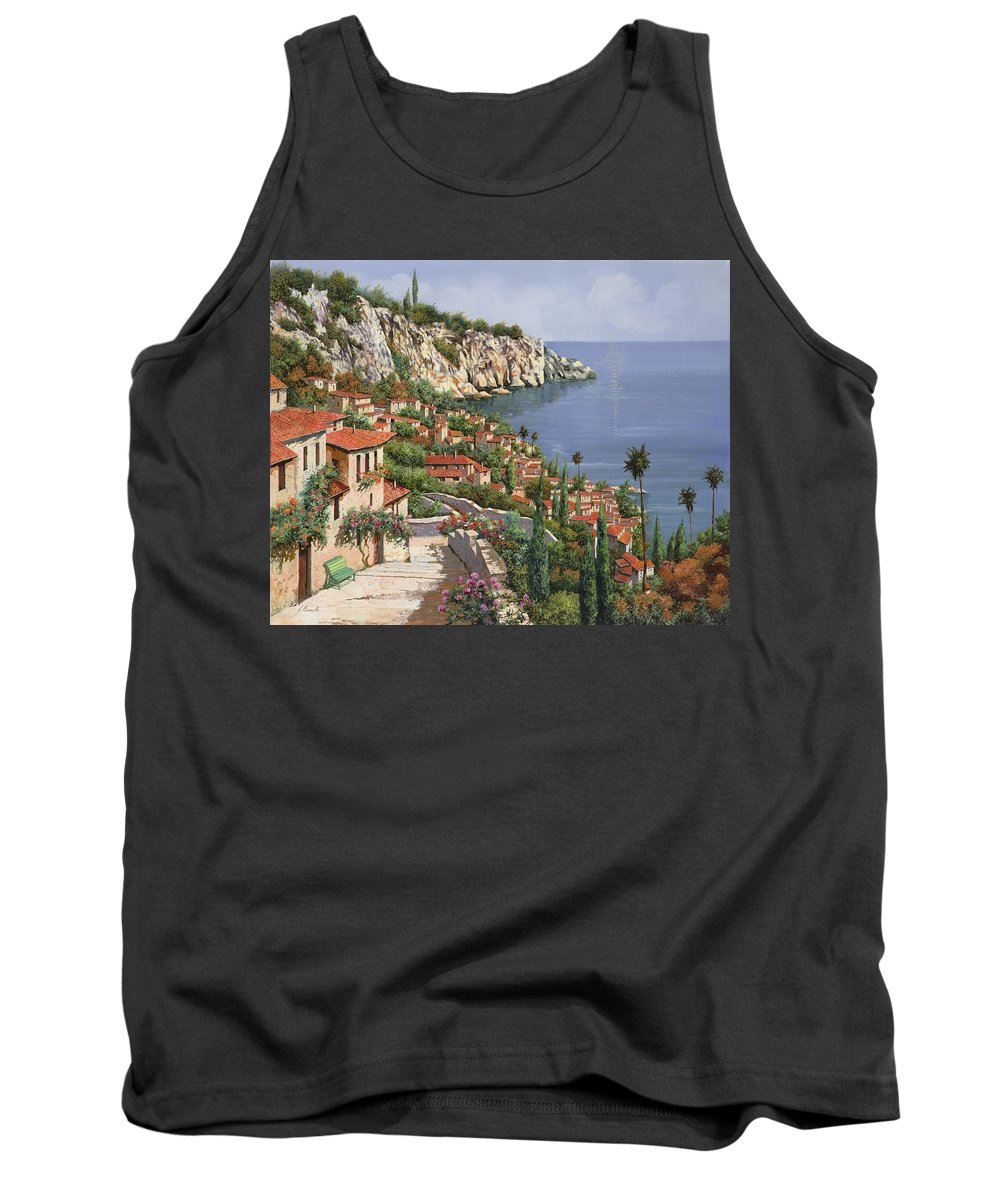 Seascape Tank Top featuring the painting La Costa by Guido Borelli