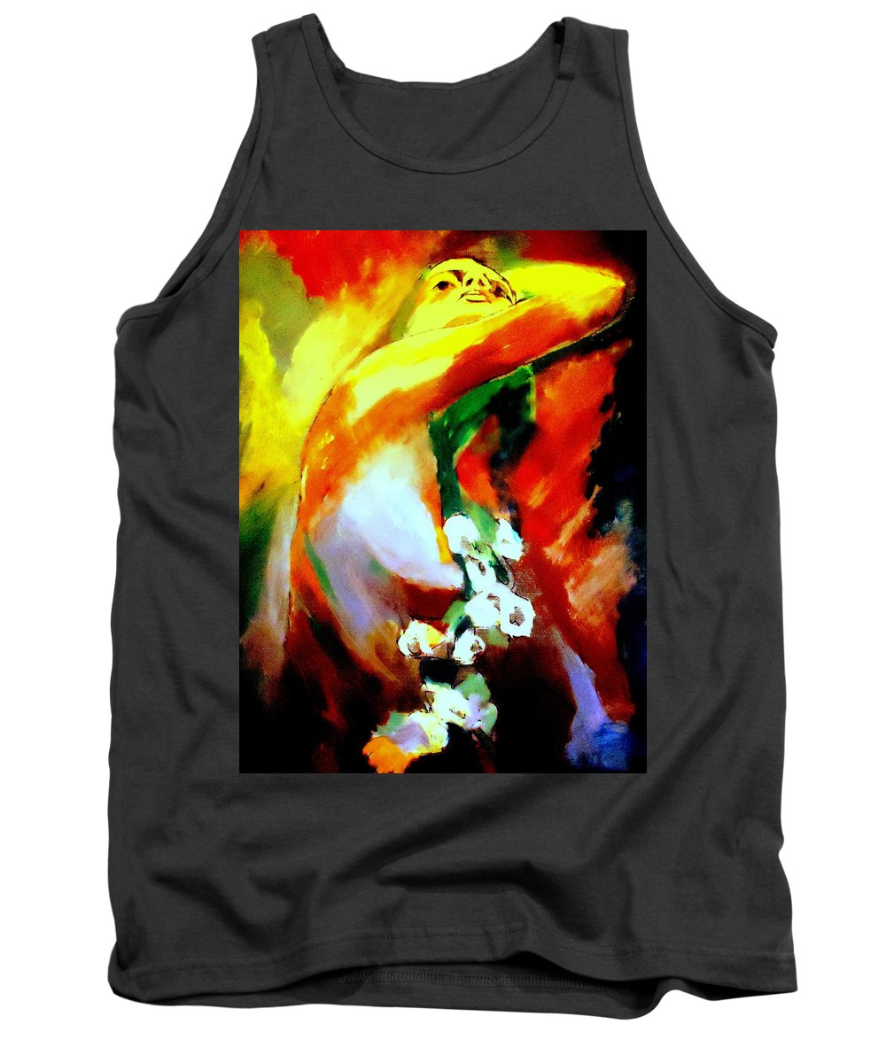 Nude Figures Tank Top featuring the painting La Vie by Helena Wierzbicki