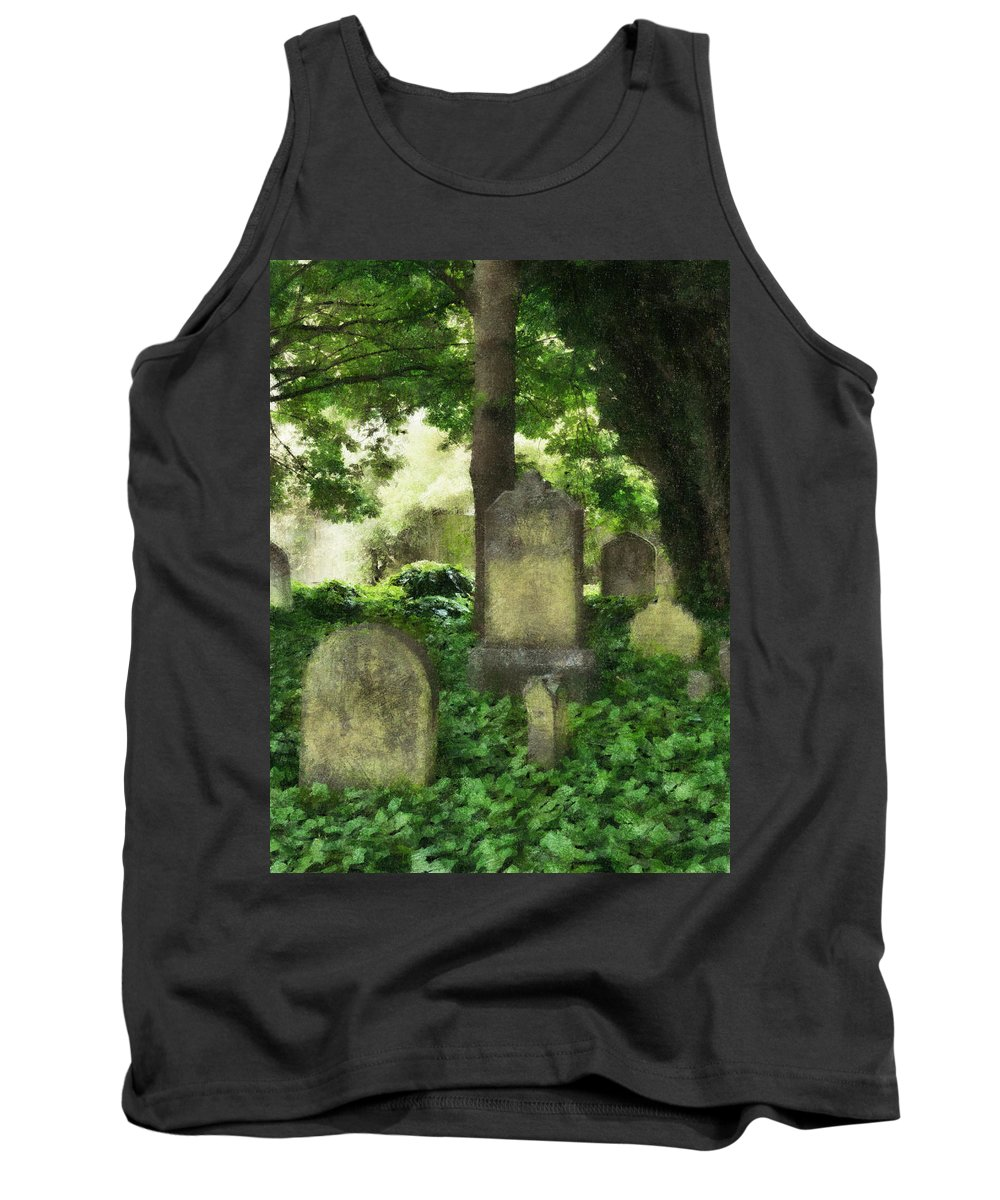 Ivy Tank Top featuring the photograph Lain Under An Ivy Blanket by Steve Taylor