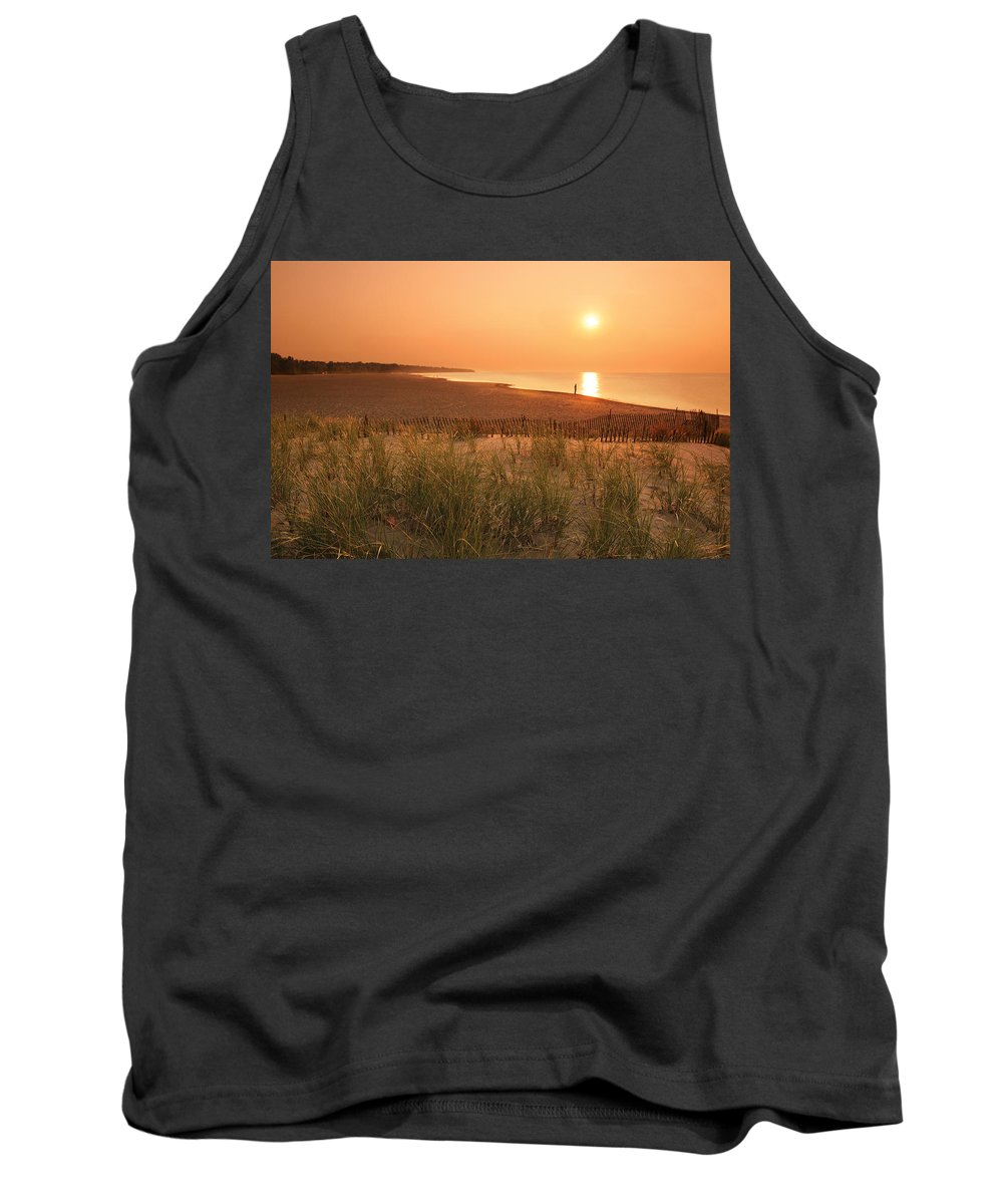 Lake Erie Tank Top featuring the photograph Lake Erie Sunset by Garry McMichael