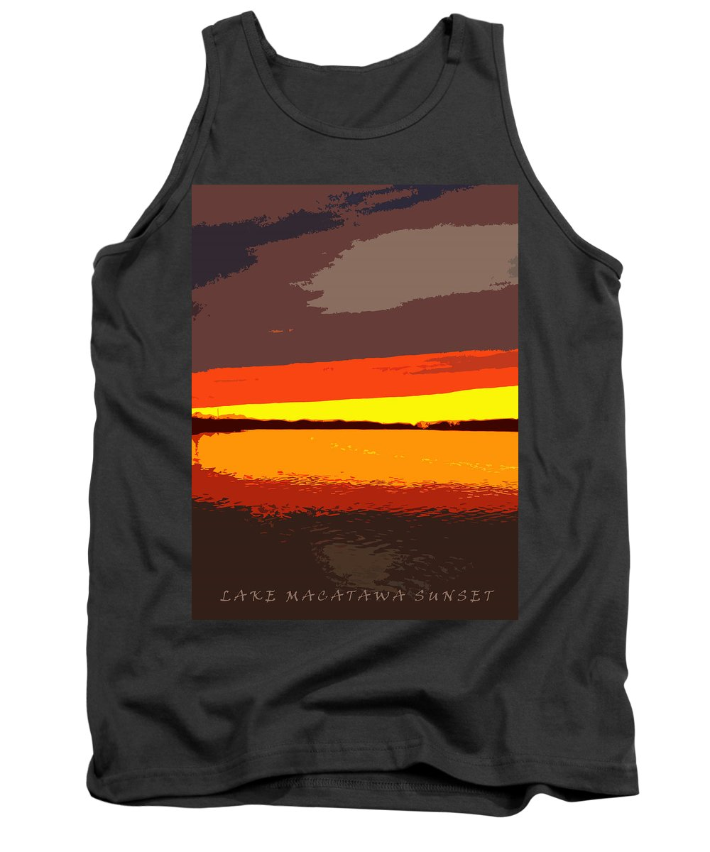 Sunset Tank Top featuring the photograph Lake Macatawa Sunset by Michelle Calkins