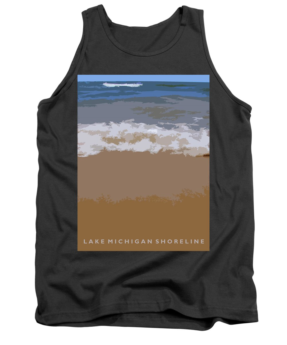 Beach Tank Top featuring the photograph Lake Michigan Shoreline by Michelle Calkins