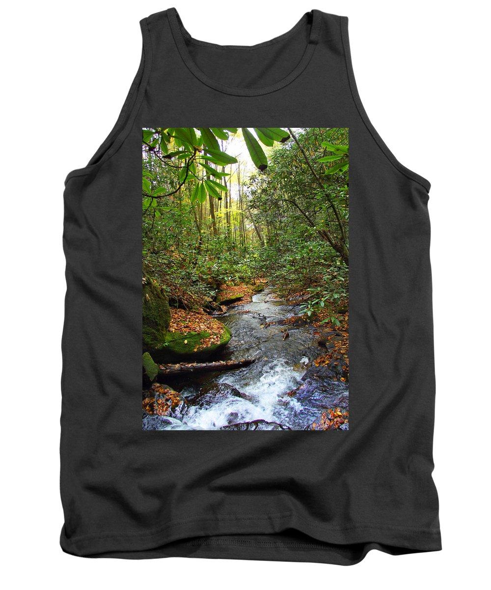 Landscapes Tank Top featuring the photograph Lamance Creek Vertical by Duane McCullough