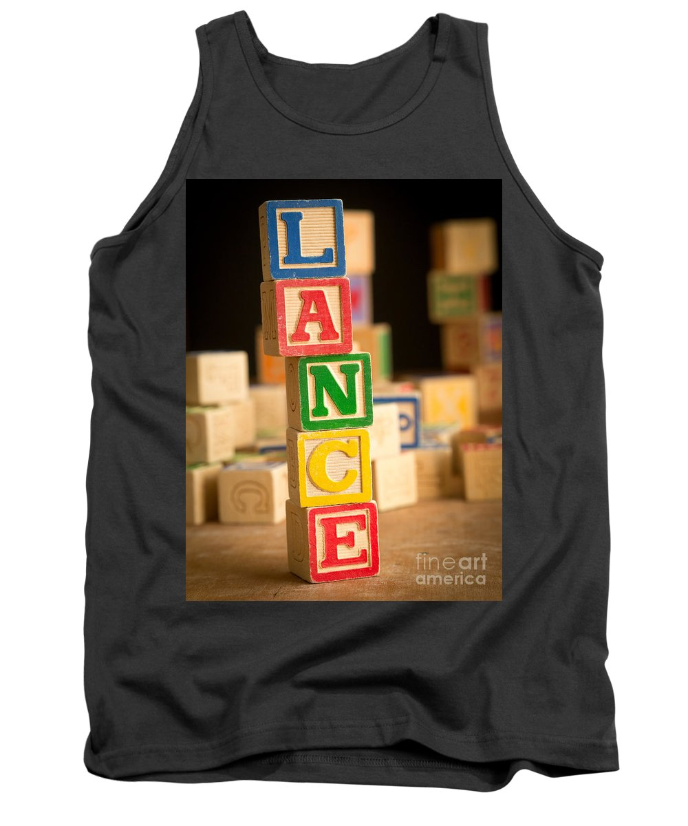 Abcs Tank Top featuring the photograph Lance - Alphabet Blocks by Edward Fielding