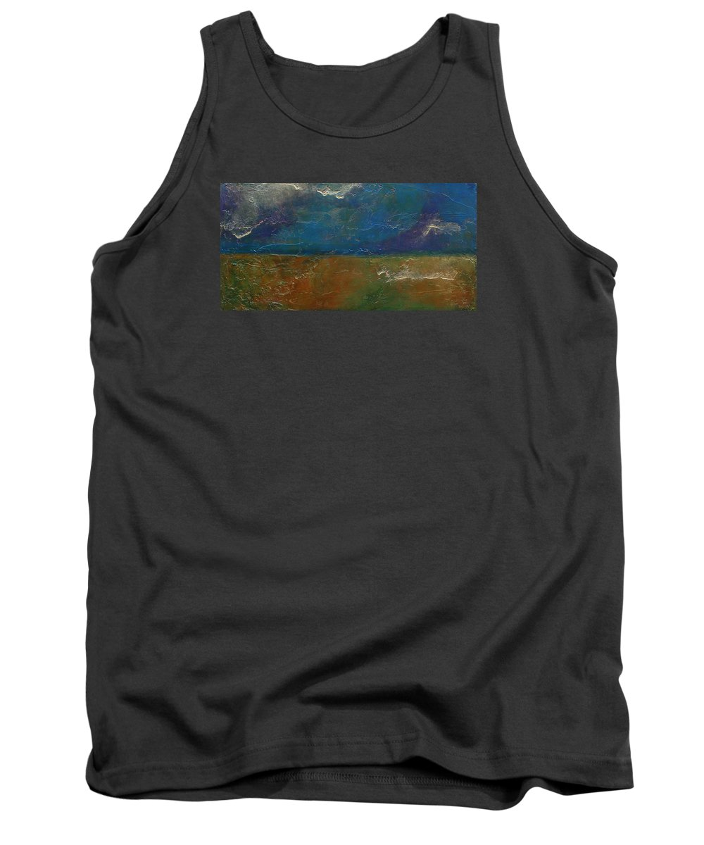 Abstract Tank Top featuring the painting Landscape # 18 - Prints Available But Original Sold by Chesney Rheaume