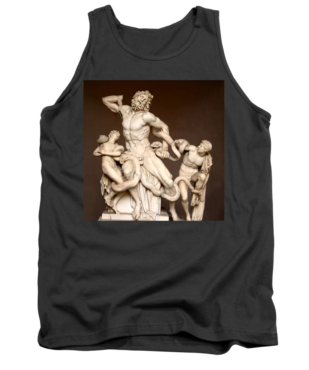 Laocoon And Sons Tank Top featuring the photograph Laocoon And Sons by Ellen Henneke