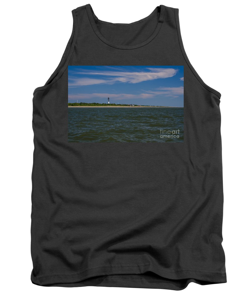 Sullivan's Island Lighthouse Tank Top featuring the photograph Last Day Of Summer by Dale Powell