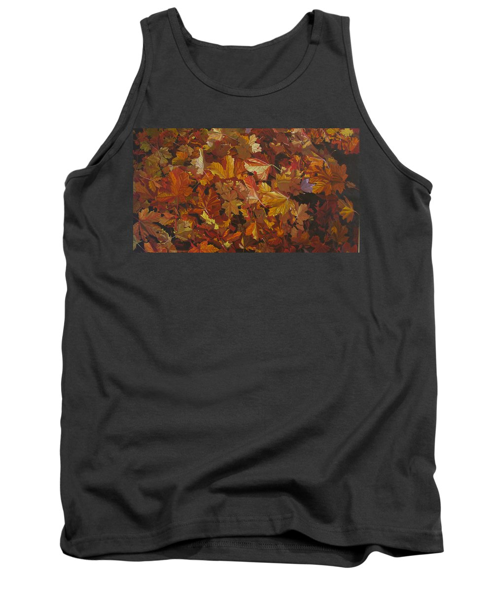 Fall Tank Top featuring the painting Last Fall In Monroe by Thu Nguyen