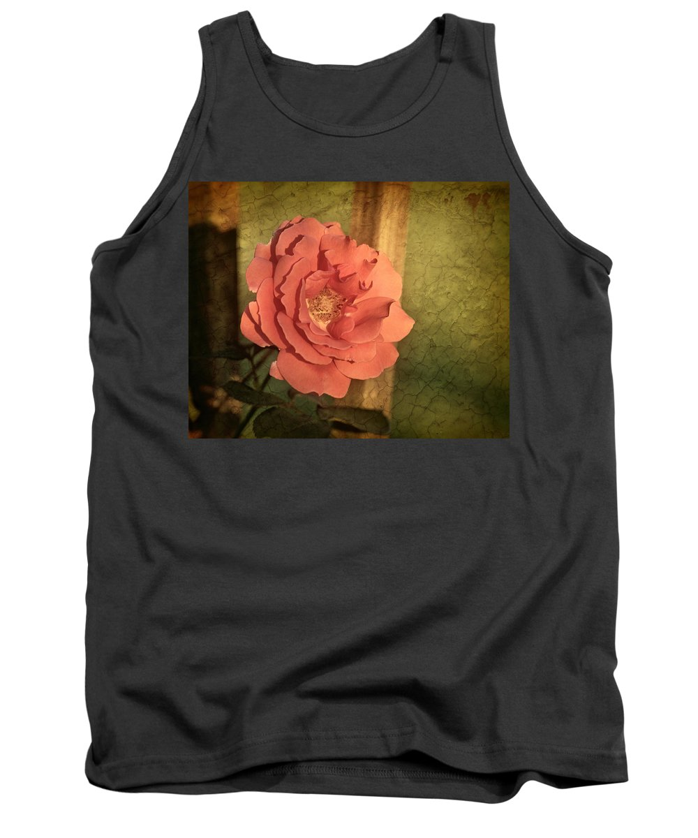 Roses Tank Top featuring the photograph Last Rose Of Summer by Mel Hensley