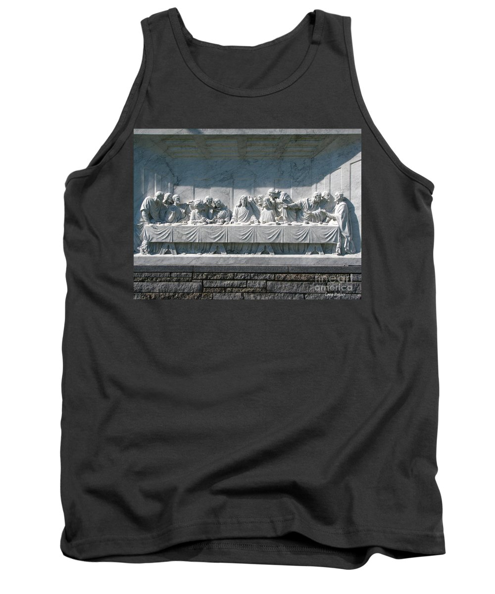 Art For The Wall...patzer Photography Tank Top featuring the photograph Last Supper by Greg Patzer