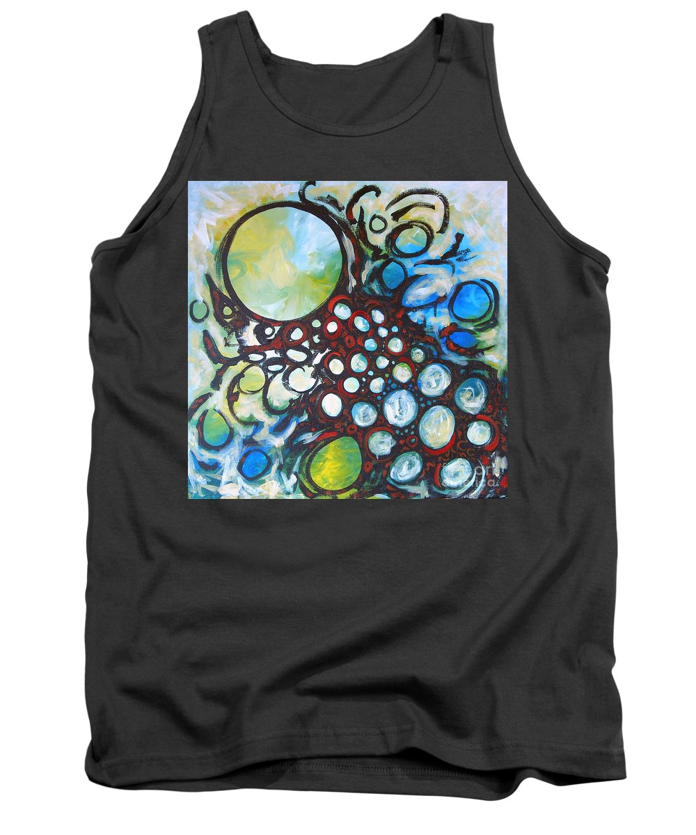 Dot Tank Top featuring the painting Lava Lamp Studio No.1 by Tonya Henderson