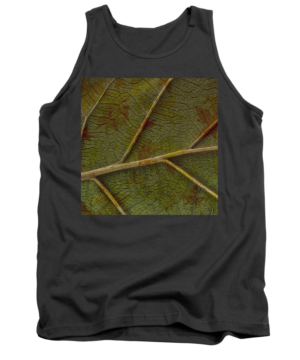 Leaf Tank Top featuring the photograph Leaf Design II by Ben and Raisa Gertsberg