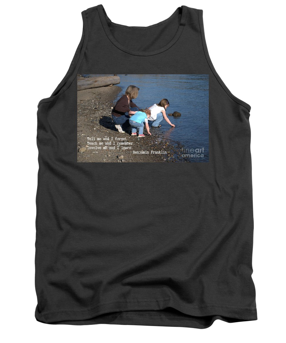Learning Tank Top featuring the photograph Learning by Sharon Elliott