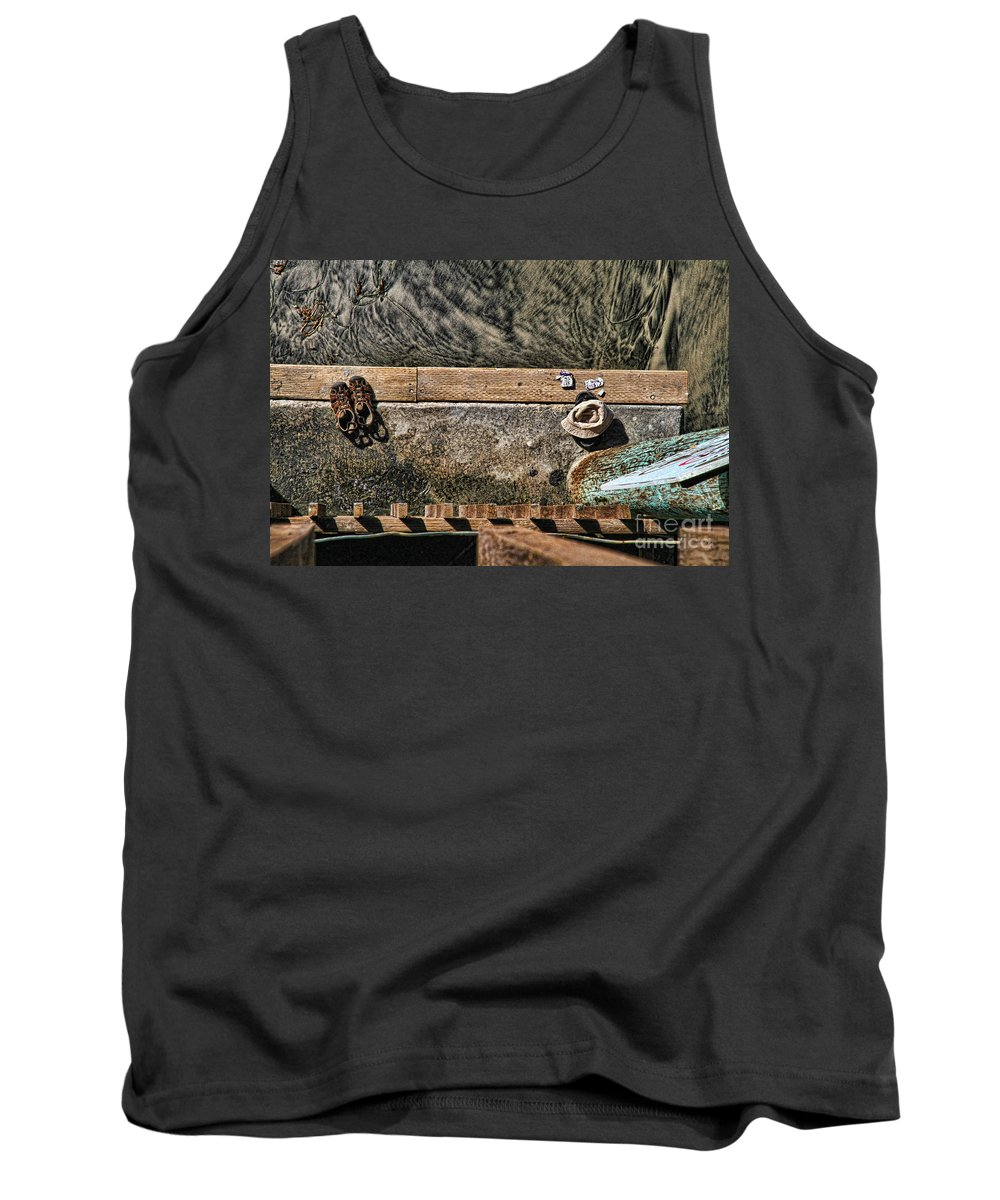 Beach Tank Top featuring the photograph Left Behind By Diana Sainz by Diana Raquel Sainz