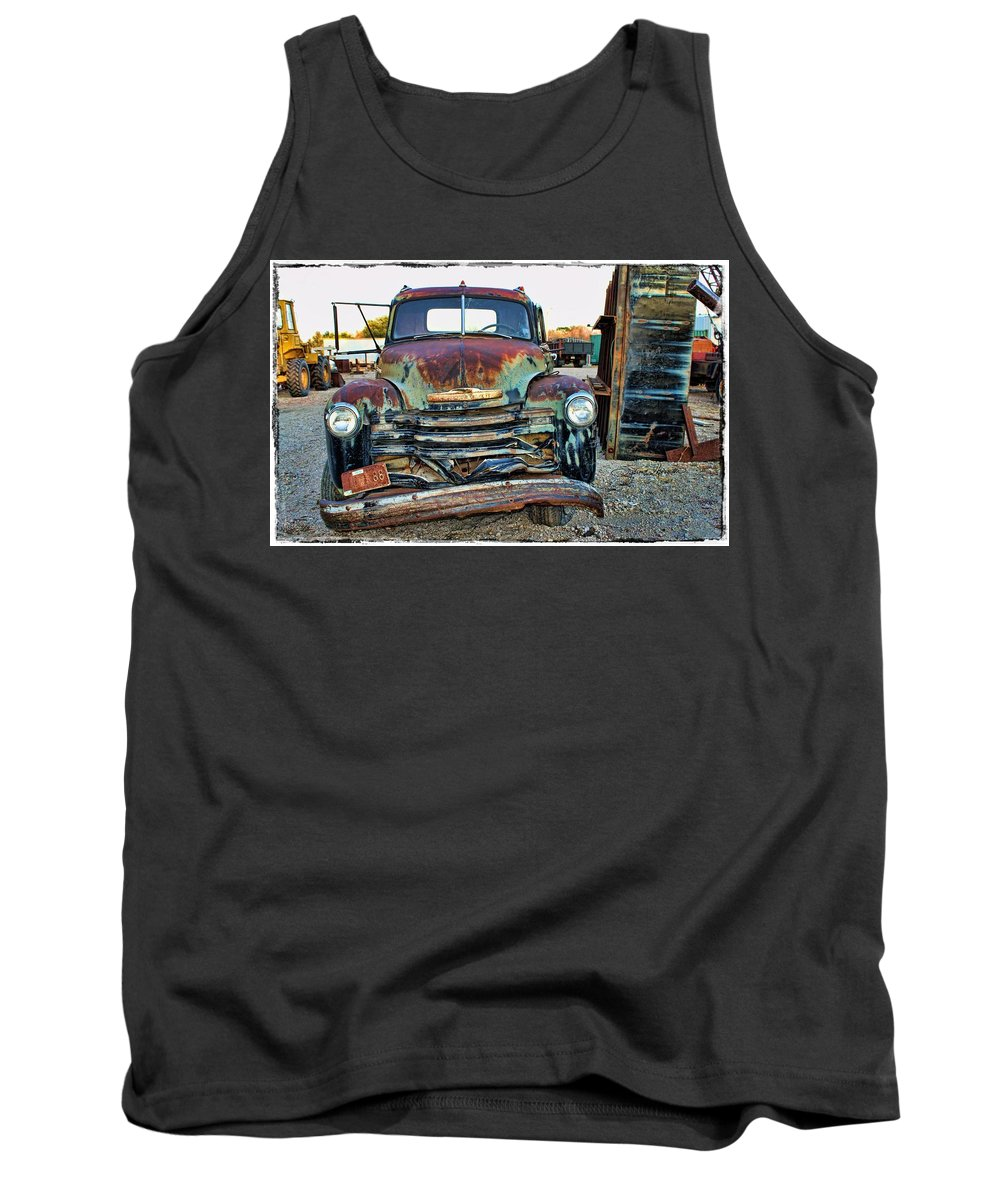 Truck Tank Top featuring the photograph Left Behind by Sylvia Thornton