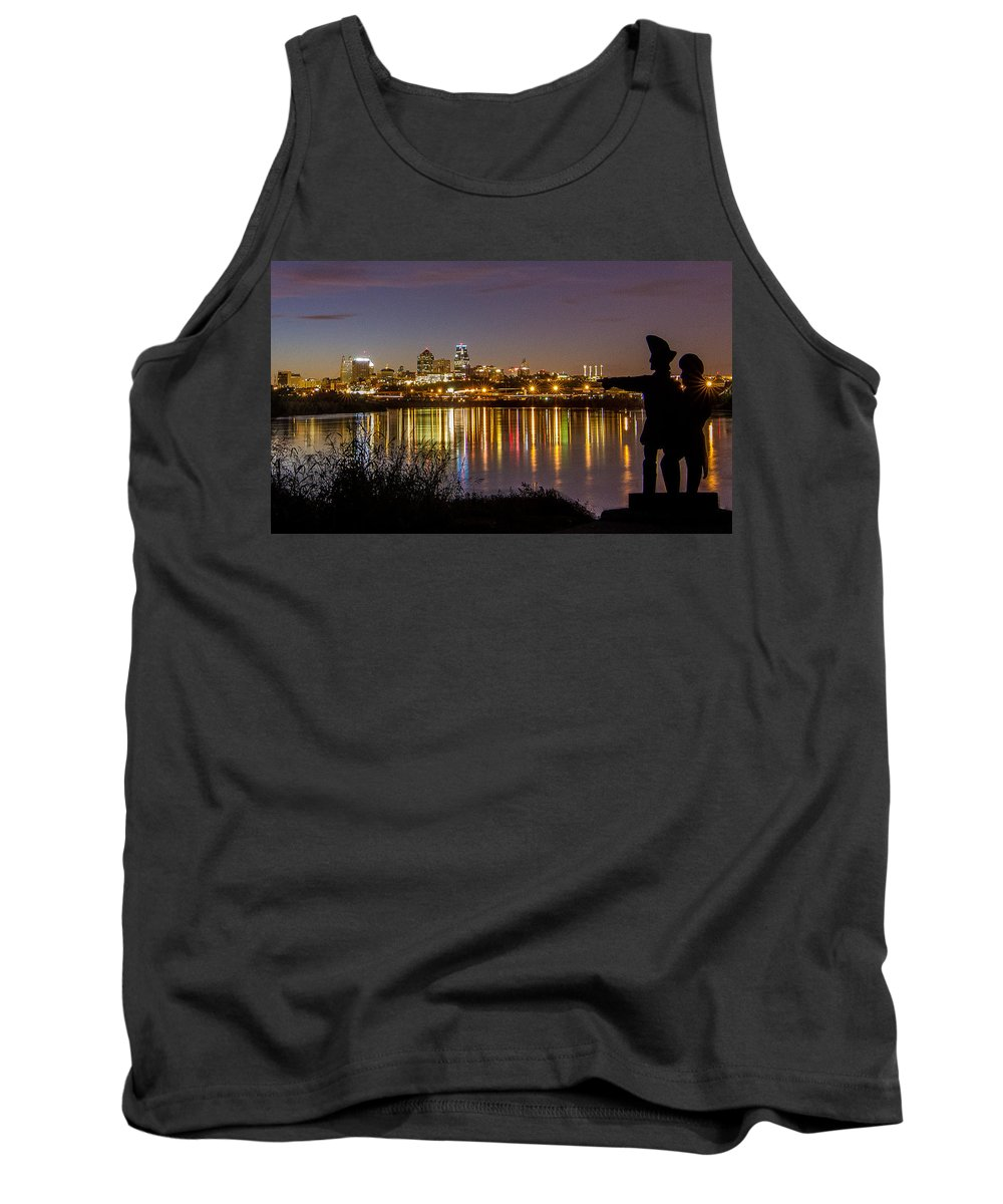 Kansas City Tank Top featuring the photograph Lewis And Clark by Ken Kobe