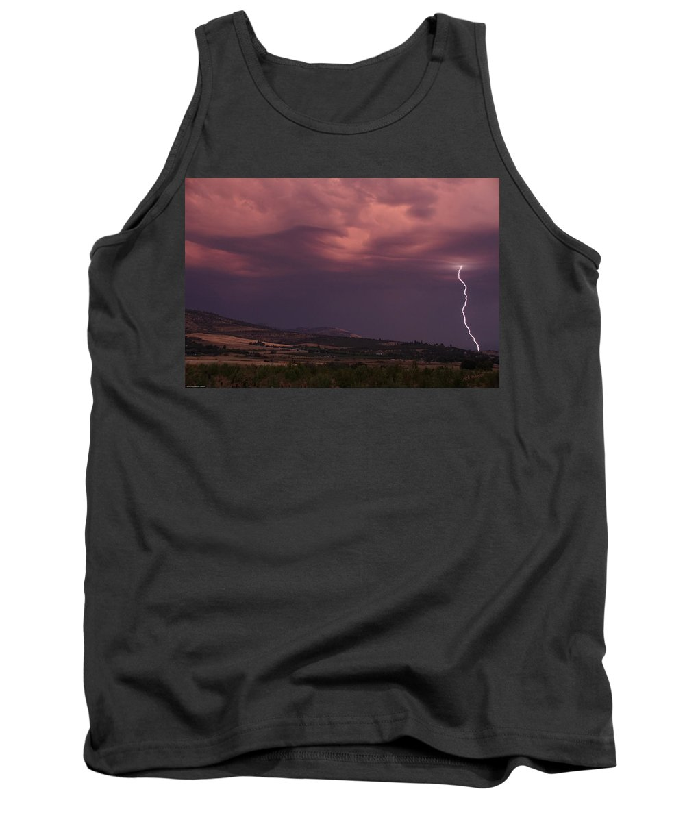 Lightning Tank Top featuring the photograph Life Can Change In An Instant by Mick Anderson