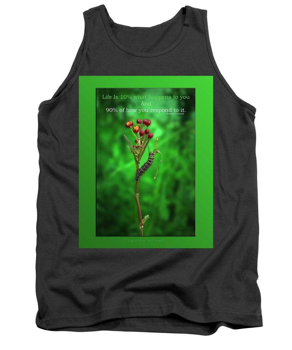 Caterpillar Tank Top featuring the mixed media Life Is Slow And Steady by Thomas Woolworth