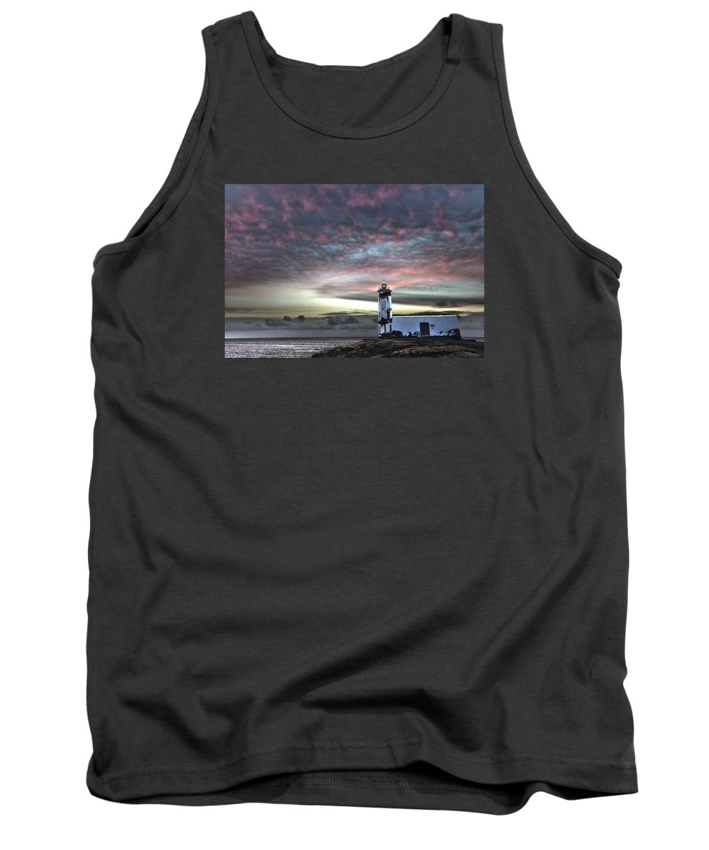 Acting Tank Top featuring the photograph Lighthouse Maria Pia by Alexander Manykin