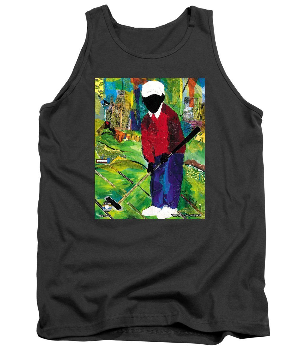 Everett Spruill Tank Top featuring the painting Lil Tiger by Everett Spruill