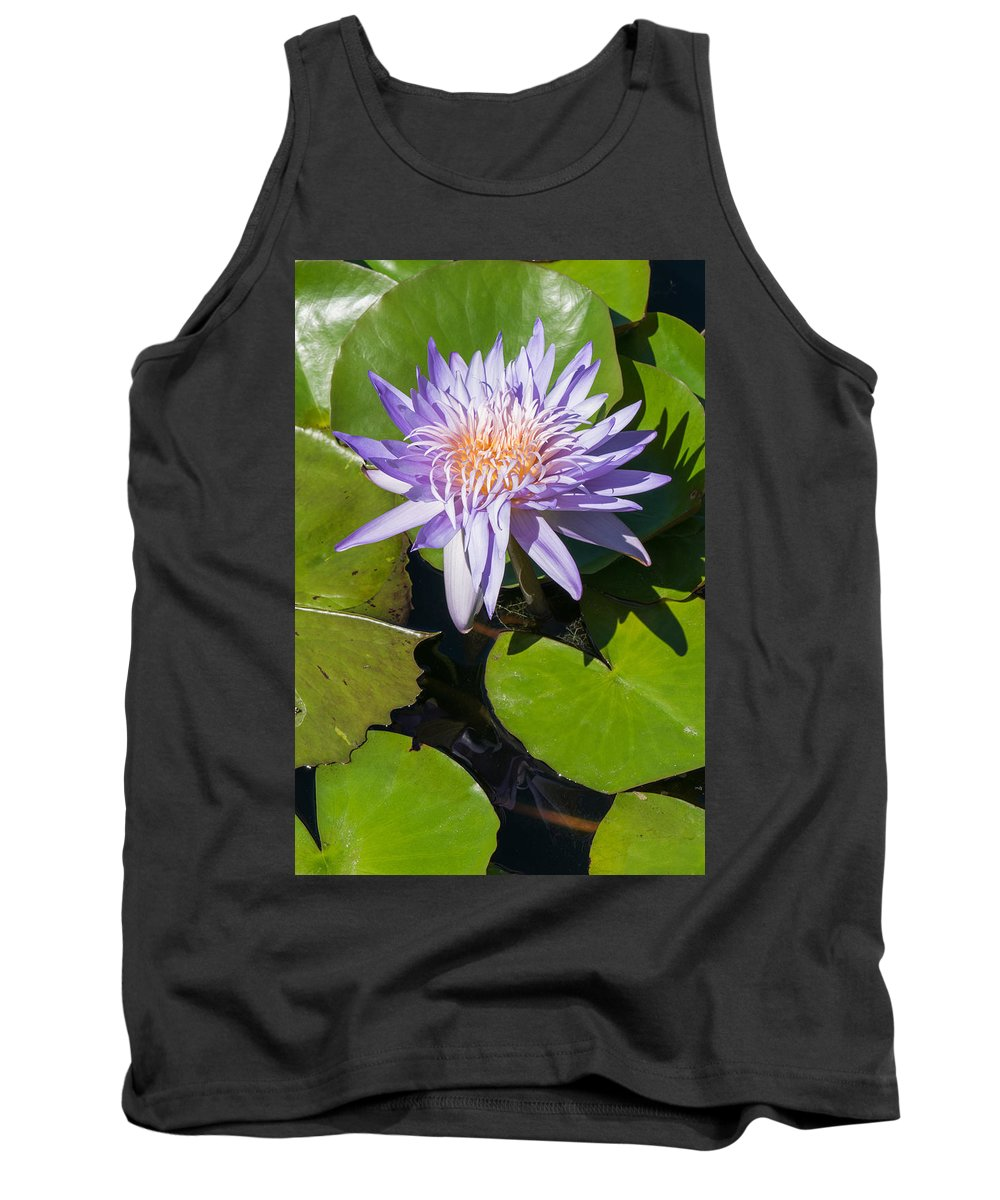 Flower Tank Top featuring the photograph Lilac Water Lily by Robert VanDerWal