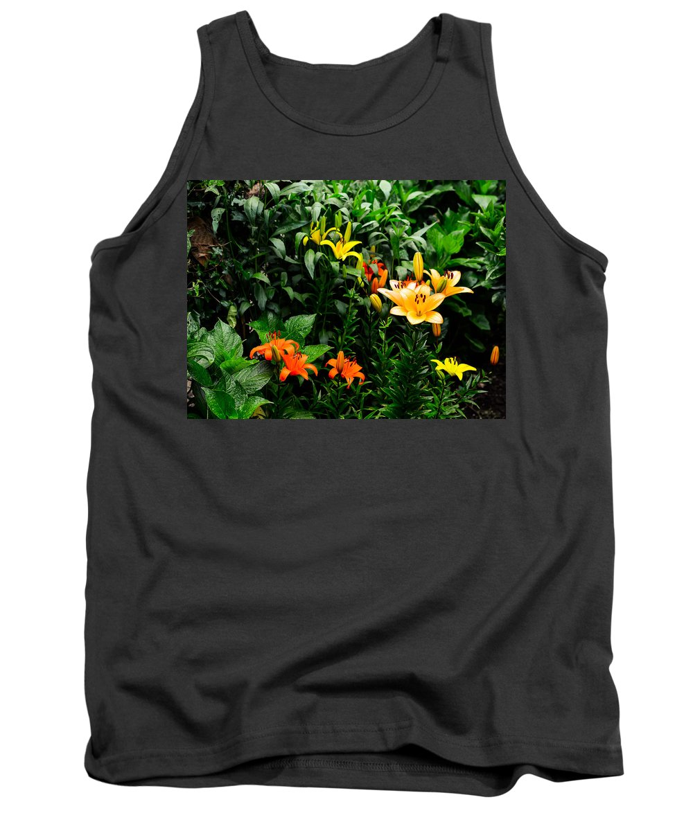 Flower Tank Top featuring the photograph Lilies by Marco Oliveira