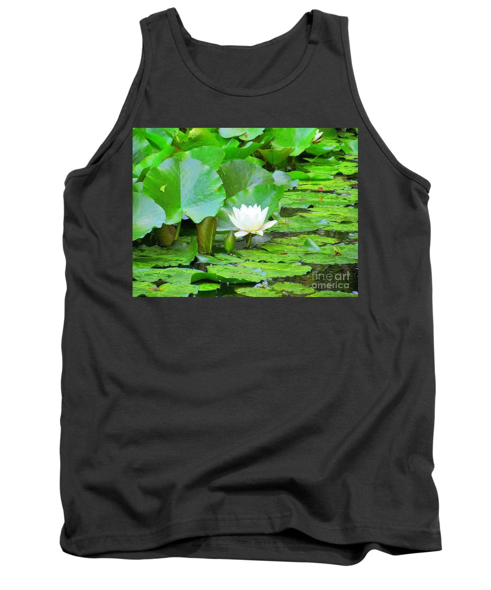 Lilly Pad Tank Top featuring the photograph Lilly Pad by Elizabeth Dow